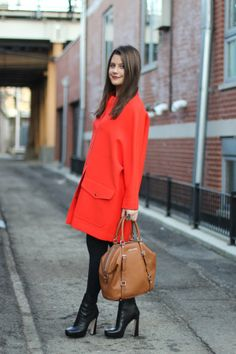 Jena Gambaccini from Amy Creyer with the Michael Kors bedford tote bag. Chicago, December 2011 #MichealKors #Purses