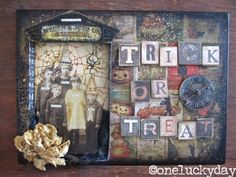 One Lucky Day: Tim Holtz Media Team - Trick or Treat for the Media Team; Oct 2014