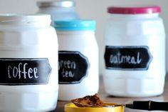 DIY Frascos de mermeladas convertidos en contenedores