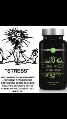 Confianza....anti stress formula that leaves you feeling calm, cool and collected:). I do NOT go a day without them!  817-905-9931 Http://ldeitsch.myitworks.com