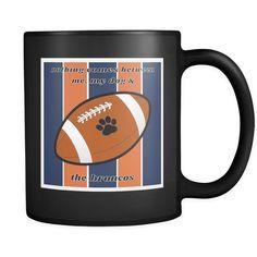 Dog Themed Mug - NFL Denver Broncos On Black