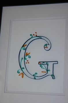Quilled Paper Art Initial D in blue teal and by TheJamiesonShop, $17.00