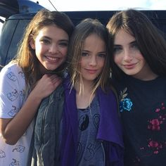 Laneya Grace, Kristina Pimenova and Lilly Kruk
