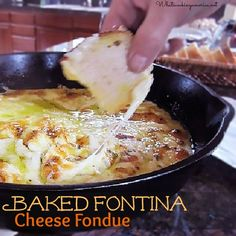 Baked Fontina Fondue Recipe, How To Make Baked Fontina Fondue, Whats Cooking America