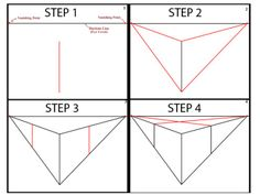 Follow the steps to draw the two point perspective cube above.