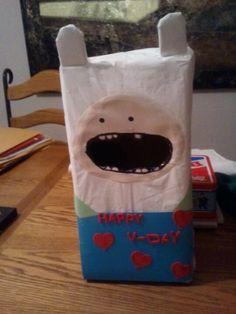 Gavin's 2nd grade valentines day box