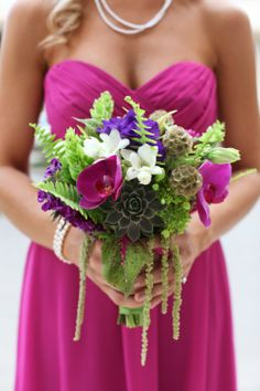 Just to show you how we could add something very light cascading down from your bouquet if you like the look--this bouquet has great textures which to me really goes with the outdoor/equestrian feel