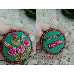 Handmade embroidery with bullion stitch - bros sulam