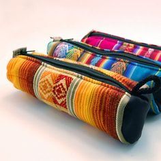 Zee Bee Market LLC - Fabric Pencil Case These brightly colored pencil cases are perfect for storing any school supply or even makeup. The outside features soft woven cloth in multiple designs and it's fully lined.