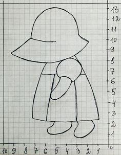 """Это самоповтор. Блог открылся воплем восторга по поводу аппликации с изображением девочки в шляпке. (Пост с рисунками и схемами """"Кр..."""