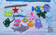 Is your child inquisitive? An excellent option for preschool children is magnetic fishing. In a fun game allows you to explore the sea fish. The fish are made of felt, inside the magnet is sewn, is safe because there are no any missing parts. The set consists of two pages of a quiet