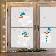 Jako-o window pictures snowmen, white Jako-O All Things Christmas, Christmas Crafts, Christmas Decorations, Holiday Decor, Christmas Ideas, Papier Kind, Diy And Crafts, Paper Crafts, Window Stickers
