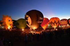 Saturday Evening at Carolina BalloonFest! photo courtesy Don Mercer