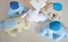 Light Blue Elephants Baby Mobile Crib Mobile Nursery by TheMemis, $85.00