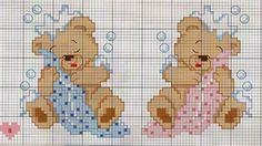 graficos em ponto cruz para bebe