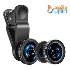 Set of Phone Lenses #inspireuplift #BlackAndSilver #10xMacroLens #EasyToInstall #BackFacingCameras #EasyToRemove #ClearDetails #CaptureValuableMoments #FishEyeLens #detachable Our Set of Phone Lenses is great for mobile photography and can be used with back or front facing cameras. It's the perfect combination, ideal for meeting your photography needs. Each lens in the set of three- Fish eye lens- 180° Wide-angle lens & 10X Macro Lens, makes it possible for you to capture valuable moments while