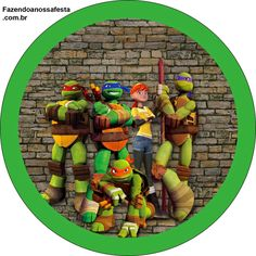 Ninja Turtles: Free Printable Candy Bar Labels.