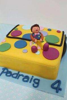 Mr Tumbles Spotty Bag Cake