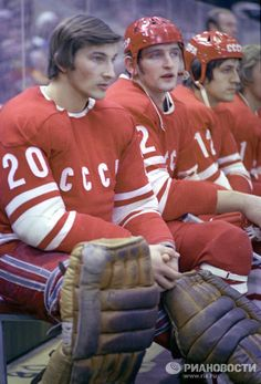 TRETIAK | The Greatest Goaltender in the history of International Hockey. (Photo from 1976) Hockey Goalie, Hockey Mom, Hockey Teams, Ice Hockey, Hockey Rules, Boston Bruins Hockey, Vancouver Canucks, Sports Pictures, Hockey Players
