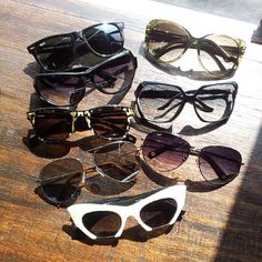 64f30e535b There is no such thing as too many sunglasses  rayban  rolandmouret  dita   gucci  victoriabeckham  michaelkors  miumiu  Padgram