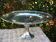 Mercury Glass Desert Pedestal/Cake Stand by AmbianceofApril, $28.00