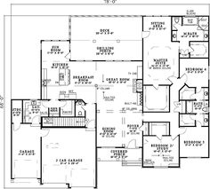 Plan W59600ND: Traditional, Sloping Lot House Plans & Home Designs