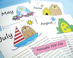 DIY Printable Perpetual Birthday Calendar by LilCubbyPrintables
