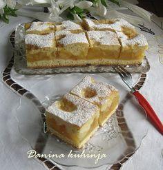 Danina kuhinja: Pita sa jabukama i pudingom . ✤ॐ ♥ ▾ ๑♡ஜ ℓv ஜ ᘡlvᘡ༺✿ ☾♡ ♥ ♫ La-la-la Bonne vie ♪ ❥ Fruit Recipes, Sweet Recipes, Cake Recipes, Dessert Recipes, Cooking Recipes, Bosnian Recipes, Croatian Recipes, Apple Desserts, Kuchen