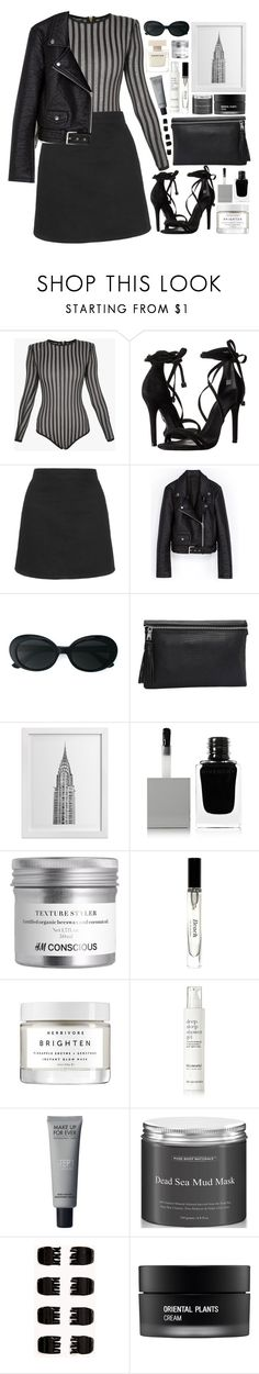 """""""Geen titel #499"""" by s-ensible ❤ liked on Polyvore featuring Balmain, Schutz, Topshop, Yves Saint Laurent, WALL, Givenchy, Bobbi Brown Cosmetics, Herbivore, This Works and Forever 21"""