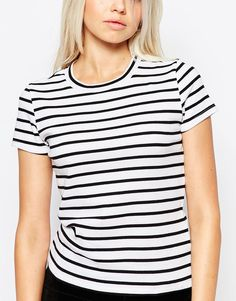 Image 3 of Monki Stripe Tee