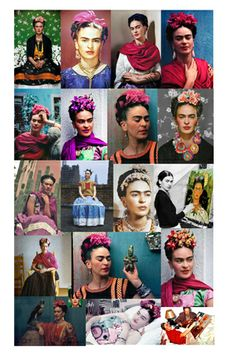 Frida Kahlo Collage I've been working on.  I have a few more in the works a few black and whites as well.