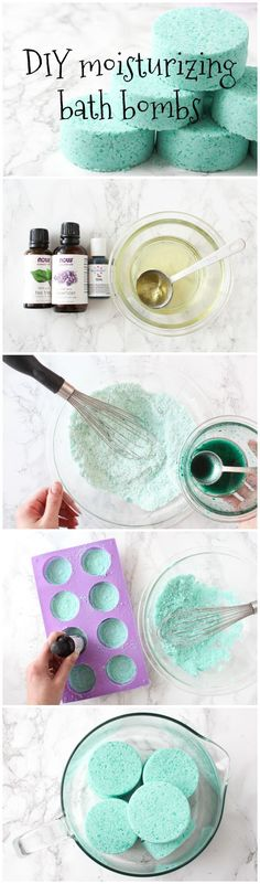 Moisturizing Bath Bombs This bath bomb recipe produces a slightly fizzy and super moisturizing soak for your bath water!This bath bomb recipe produces a slightly fizzy and super moisturizing soak for your bath water! Diy Cadeau Noel, Shower Bombs, Bath Shower, Bath Bomb Recipes, Soap Recipes, Diy Spa, Home Made Soap, Diy Beauty, Homemade Beauty