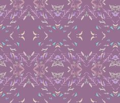Pocahontas skirt. Lavender Feathers And Twigs fabric by patternbase on Spoonflower - custom fabric