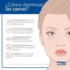 ¿Quieres disminuir las #ojeras? Conoce estos consejos básicos y ponlos en marcha.  #MédicaSur #Salud #TipsdeSalud