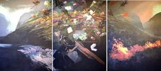 HELMUT STARCKE / MELANCHOLIA (TRIPTYCH)/ 2011 / ACRYLIC ON CANVAS/ 200 X 435 cm South African Design, Triptych, Canvas, Artwork, Painting, Tela, Tri Fold Brochure, Work Of Art, Auguste Rodin Artwork