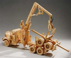 Kenworth Self-Loading Logging Truck Roberge Diy Furniture Projects, Diy Wood Projects, Wood Crafts, Wooden Toy Trucks, Wood Toys Plans, Hobby Toys, Woodworking Toys, Wooden Diy, How To Make Toys