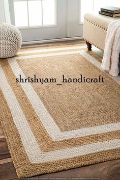 Rugs USA - Area Rugs in many styles including Contemporary, Braided, Outdoor and Flokati Shag rugs.Buy Rugs At America& Home Decorating SuperstoreArea Rugs Rugs USA Natural Maui Jute Double Border rug - Jute & Sisal Rectangle x crochet border Dorsey Natur Natural Area Rugs, Natural Rug, Border Rugs, Crochet Borders, Rugs Usa, Jute Rug, Home Decor Trends, Decor Ideas, Floor Rugs