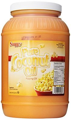Snappy Popcorn Colored Coconut Oil, 1 Gallon -- Remarkable product available : Dinner recipes Coconut Oil Popcorn, Popcorn Oil, Best Popcorn, Popcorn Snacks, Flavored Popcorn, Snappy Popcorn, Popcorn Recipes, Colored Popcorn, Movie Theater Popcorn