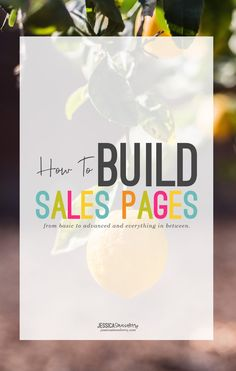 how to build sales p