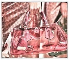 Candy colored clear bags at Burberry for Spring '13