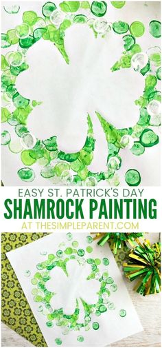 Shamrock Marshmallow Painting for St. Shamrock Marshmallow Painting for St. Patrick's Day Shamrock Marshmallow Painting Craft - DIY crafts are fun to do with kids of all. March Crafts, St Patrick's Day Crafts, Crafts To Do, Diy Crafts For Kids, Holiday Crafts, Tree Crafts, Thanksgiving Crafts, Quick Crafts, Wreath Crafts