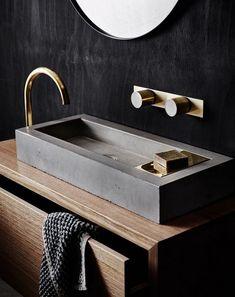 Cool Modern Plywood Vanity Designs Bathroom - Page 15 of 25 Modern Bathroom Cabinets, Modern Bathroom Design, Bathroom Interior Design, Bathroom Vanities, Contemporary Bathrooms, Bathroom Vanity Organization, Bathroom Styling, Big Bathrooms, Master Bathroom