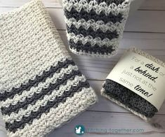 dish towels Cute crochet country dish towel adds great modern farmhouse style to your kitchen, or you could use them as hand towels in the bathroom. Pair them with the crochet country dish Modern Crochet, Cute Crochet, Easy Crochet, Crochet Hooks, Crochet Things, Irish Crochet, Crochet Dish Towels, Crochet Dishcloths, Chrochet