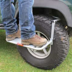 Wheel Step - fits most vehicles and tyres Ford Explorer, Tire Steps, Big Ford Trucks, Toyota Surf, 4x4 Tires, Camping Set Up, Truck Camping, Van Racking, Off Road Camper Trailer
