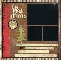 +pib  Premade Scrapbook Page  The Great Outdoors by SusansScrapbookShack, $15.95