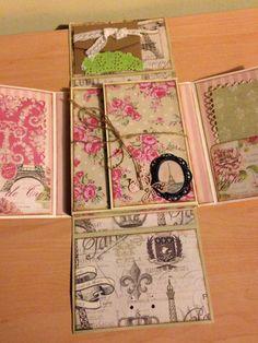El Scrap de Cris y Noe: Mini Álbum Sweet Paris Mini Albums Scrap, Mini Scrapbook Albums, Scrapbook Cards, Envelopes, Album Design, Heartfelt Creations, Vintage Crafts, Graphic 45, Smash Book