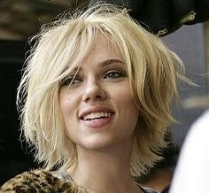 Scarlett with a layered bob