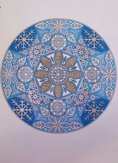 Creative Haven Snowflake Mandalas Coloring Book By: Marty Noble