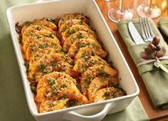 Parmesan-Butternut Squash Gratin #vegetarian #thanksgiving