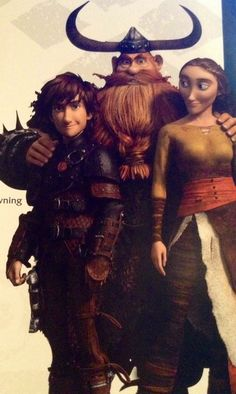 Hiccup, Stoick, and Valka. The Haddock Family *sniff* and *tears*